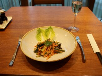 Dinner in the Cathay Pacific First Class Lounge at London Heathrow