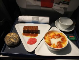 Fantastic inflight service in Austrian Airlines shorthaul business class