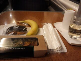 Food and drinks in Virgin Trains First Class London-Liverpool