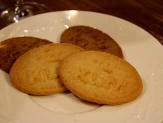 KLM cookies in the KLM Crown Lounge at Amsterdam Schiphol