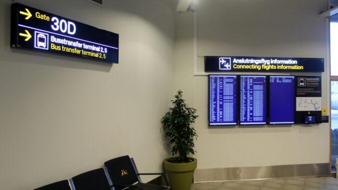 New airside terminal transfer bus at Stockholm Arlanda airport