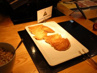 Pancakes for breakfast in the Menzies Aurora Lounge at Stockholm Arlanda