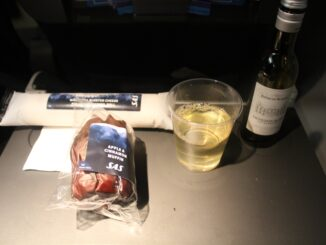 SAS Plus Stockholm-Gothenburg-Berlin Tegel snack and wine