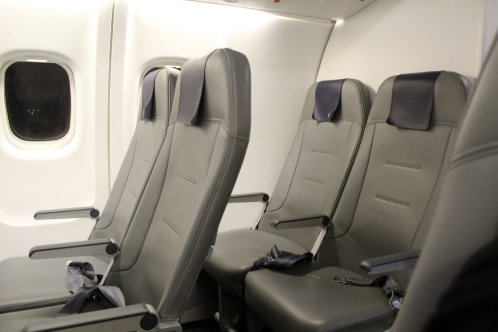 The new Finnair Norra Nordic Regional Airlines regional seat in economy class on the ATR-72
