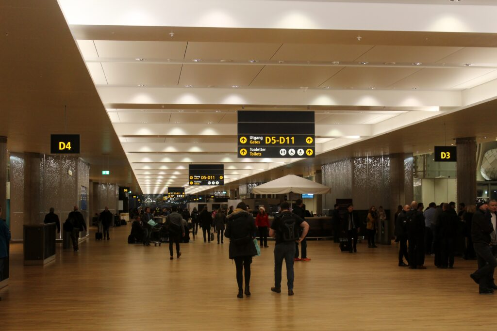 The new terminal at Oslo Gardermoen airport