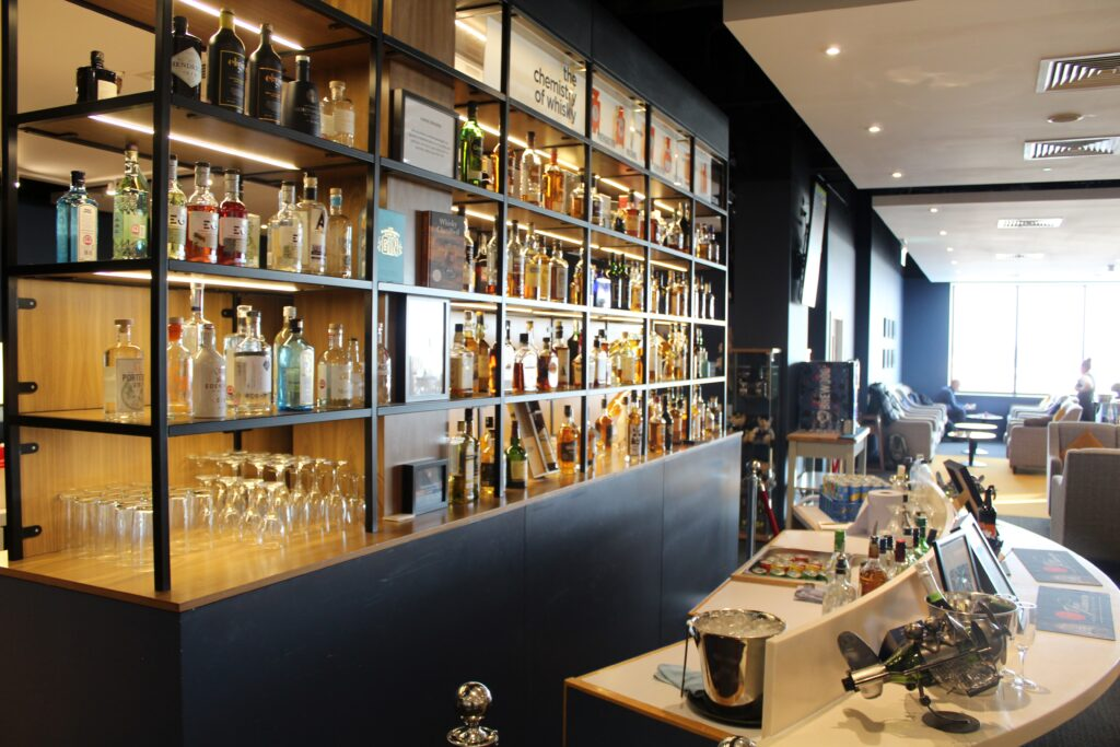 The whisky bar in the Northern Lights Lounge in Aberdeen