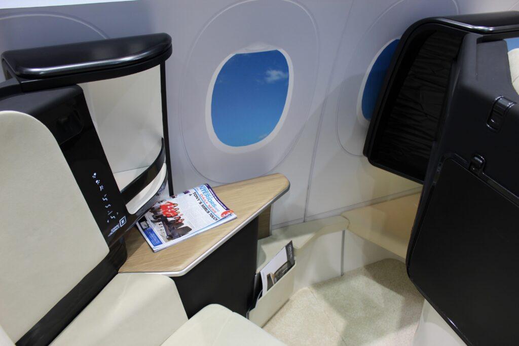 Zodiac Aerospace Cirrus NG business class seat