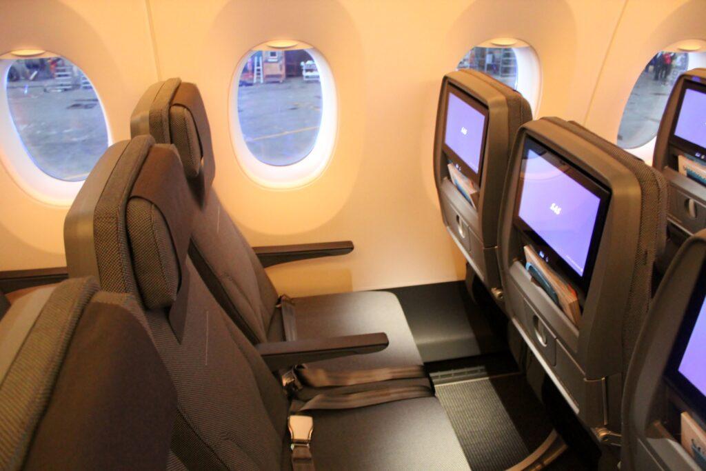 SAS Go Economy Class seats on the Airbus A350