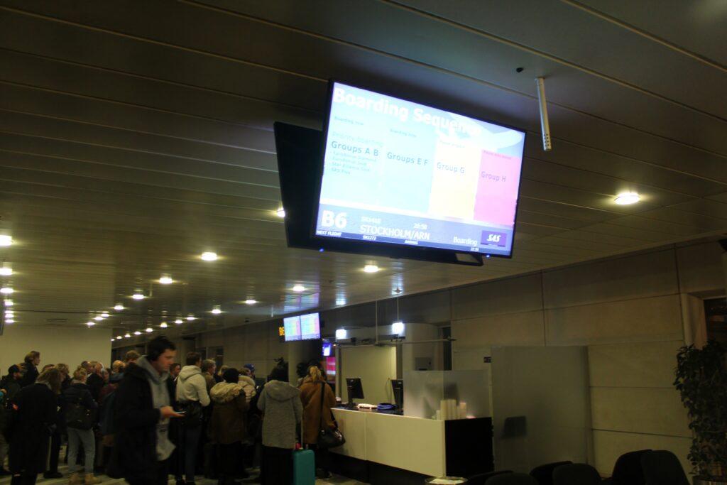 SAS priority boarding at Copenhagen Kastrup