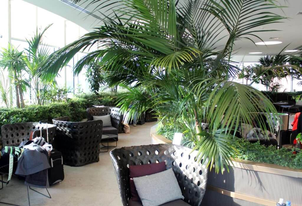 The outdoor terrace in the Marco Polo Lounge in Venice
