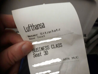 Upgraded to Lufthansa business class Stockholm-Munich