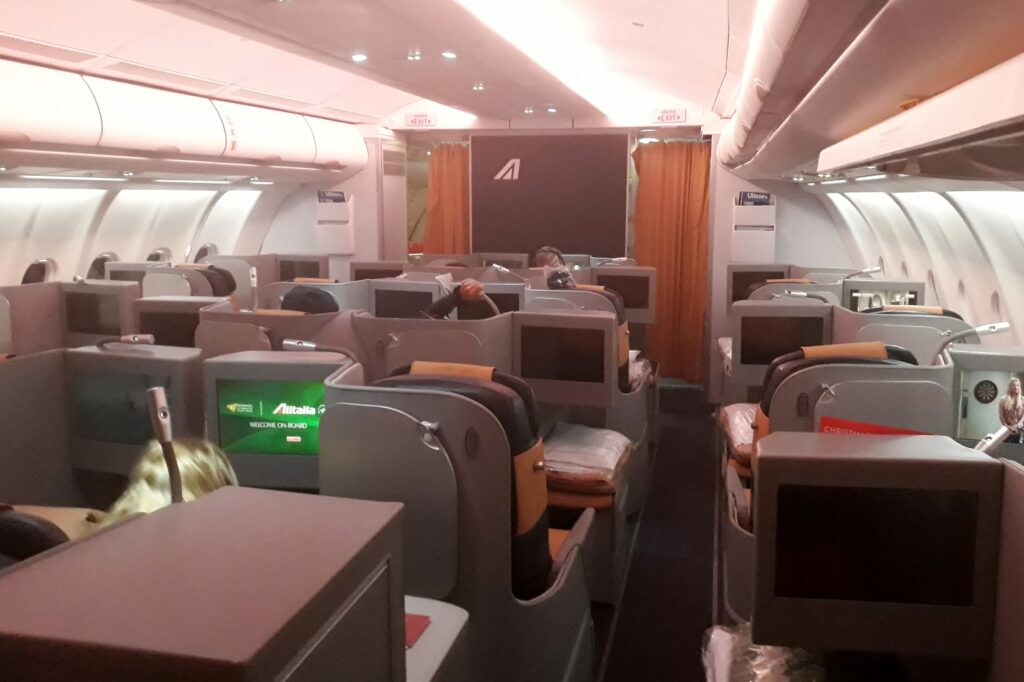Alitalia Business Class Johannesburg-Rome