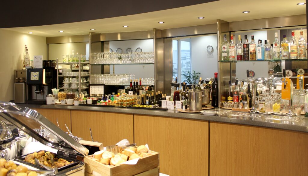 The Lufthansa Lounge in Athens