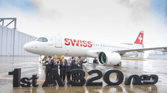 SWISS first Airbus A320NEO