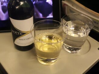White wine in LOT economy class
